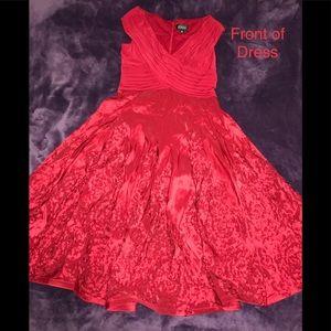 Midi - Ruffled Flower V-Neck Dress